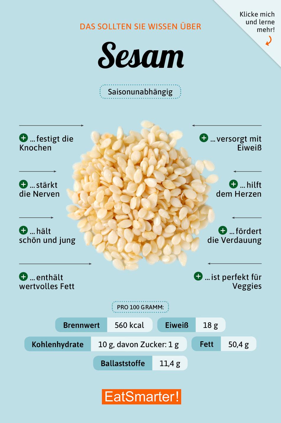 Beliebt Bevorzugt Sesam | EAT SMARTER &BP_19